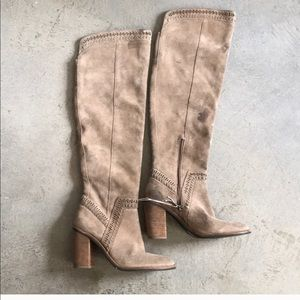 Vince Camino Tall Suede Boots Size 8